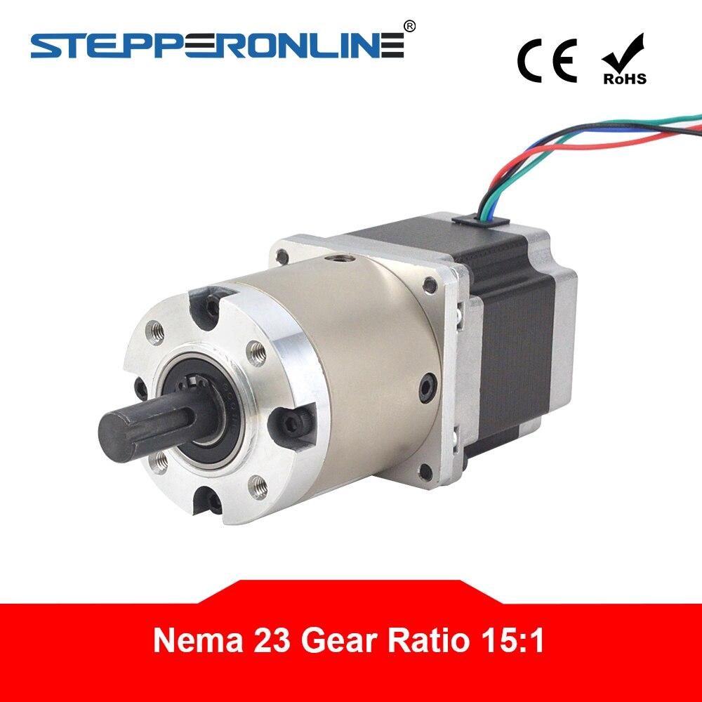 15:1 Planetária Caixa De Velocidades Nema 23 2.8A para DIY Torno Fresadora CNC Router Stepper Motor