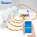 Sonoff 4CH Smart Remote Control Universal Wireless Switch Module on/off Timer Switch via app 10A/2200W forsmart home Automation