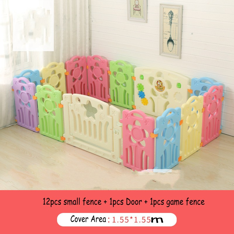 New Design Sunflower Shape Game Play Fence For Baby Safe Toddler Baby Kids Indoor Activity Walking Protection Fence