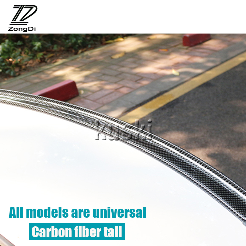 ZD Car Carbon Fiber Rear <font><b>Spoiler</b></font> Wing Stickers for VW polo passat b5 b6 Mazda 3 6 cx-5 <font><b>Toyota</b></font> <font><b>corolla</b></font> Ford focus 2 accessories image