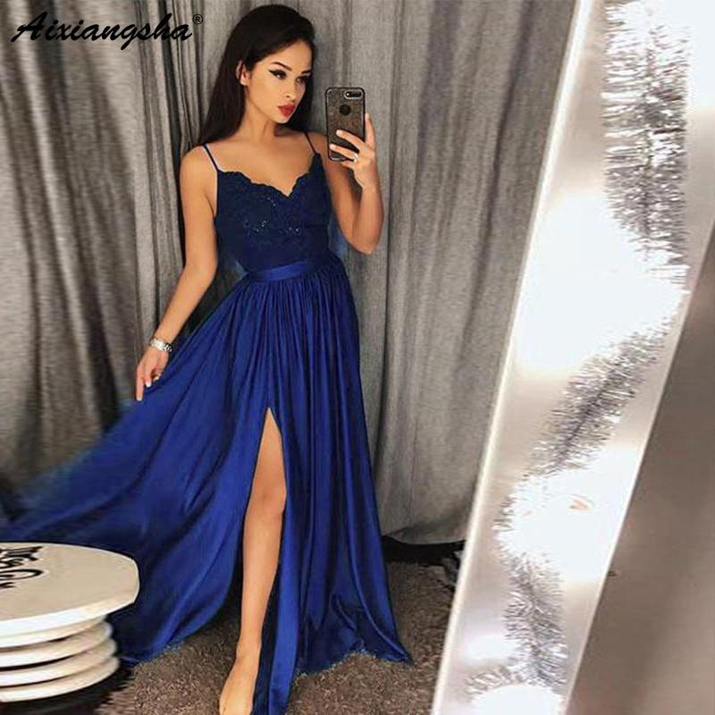 f04ddb61fa Vestidos de baile de graduación de lujo de alta baja 2019 elegantes vestidos  de fiesta de
