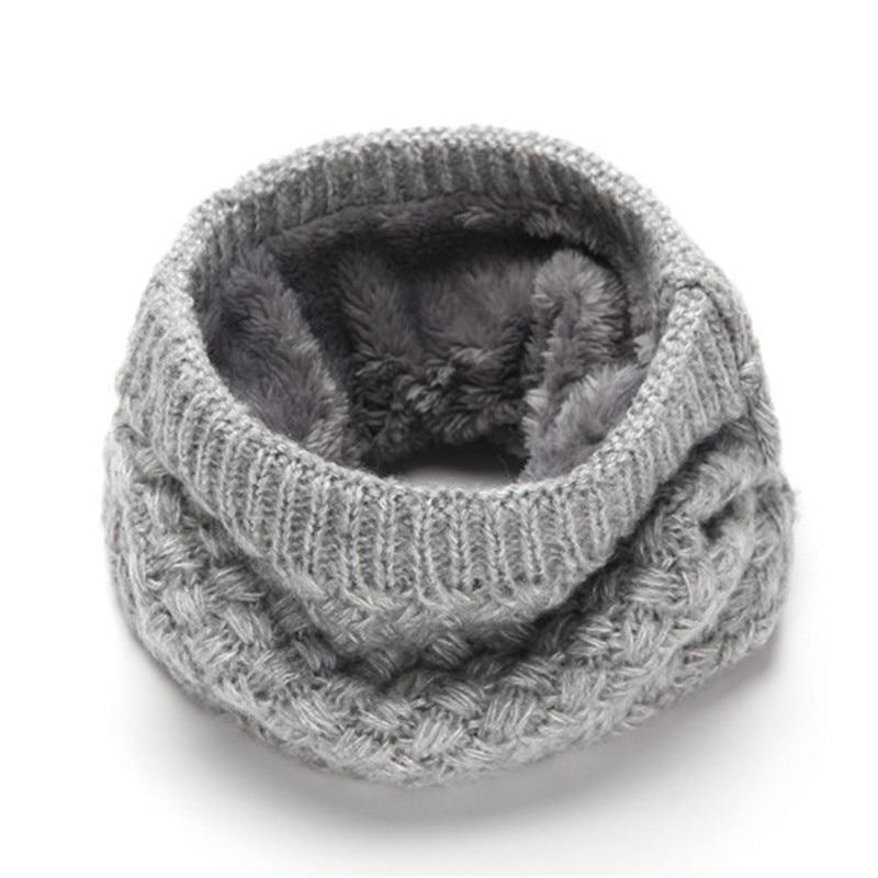 Female Warm Cashmere Tube   Scarf   Children Knitted Cowl Neck Shawls   Wraps     Scarves   Men Women Winter   Scarf   Wool Collar Neck Warmer