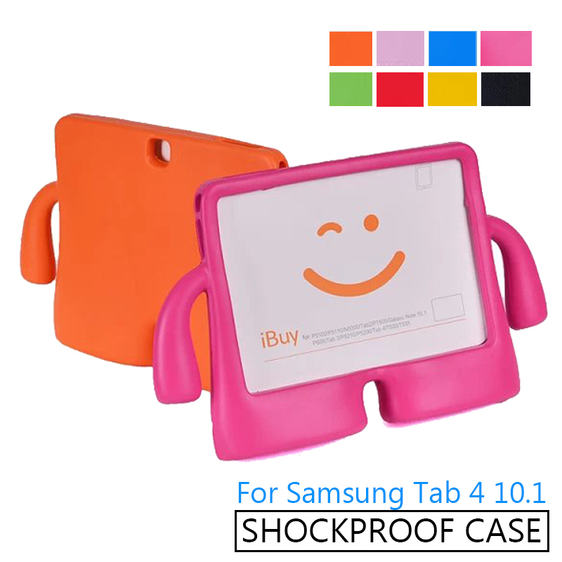 For Samsung Galaxy tab4 10.1 inch T530 T531 T535 Tablet Children Kids EVA Foam Case Stand Cover Washable ShockProof Kids Gift thick eva foam kids children safe rugged proof foam case handle stand for galaxy tab e 9 6 t560 kids shockproof tablet case