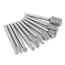 10pcs HSS Tungsten Carbide Rotary Cutting Burr Set Grinder Bit 1/8 inch (3m