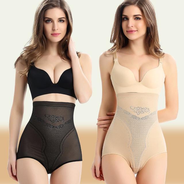 PRAYGER 2pcs Women 5XL High Waist Butt lift Control Panties Slimming Abdomen Tummy Trimmer Shaper Plus size Underwear