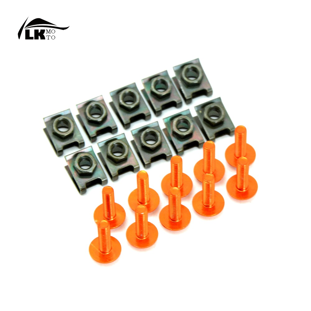 10pcs 6mm Superior quality CNC Motorcycle Fairing body work Bolts Screws For ktm 1190 Adventure R 1190 RC8 R 1190 RC8 R TRACK