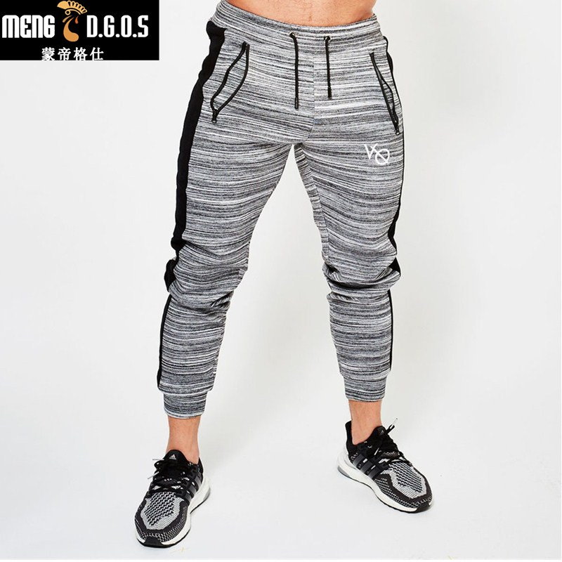 2018 New  Fitness gyms Long Pants Men Casual Sweatpants Baggy Jogger Trousers Fashion Fitted Bottoms Streetwear Pants