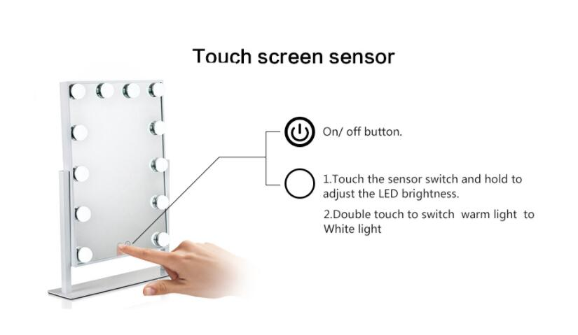 led mirror touch