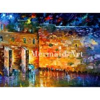 Hand Painted Oil Painting Wailing Wall Jewish On Canvas For Abstract Palette Knife Painting Living Room Wall Decor Artwork Fine