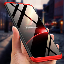 For Xiaomi Mi 8 Lite Case 360 Degree Full Body Cover Hybrid Shockproof With Tempered Glass Film