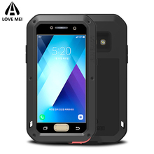Love Mei Metal Armor Shockproof Case For Samsung Galaxy A5 2017 Cover Aluminum Back Waterproof Case For Galaxy A5 2017 A520 Case
