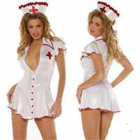 Hot Sexy Kostüme Frauen Fantasie Clubwear Dessous Weiche Elastische Baby Puppen Rolle Spielen Cosplay Weiß Krankenschwester Uniformen