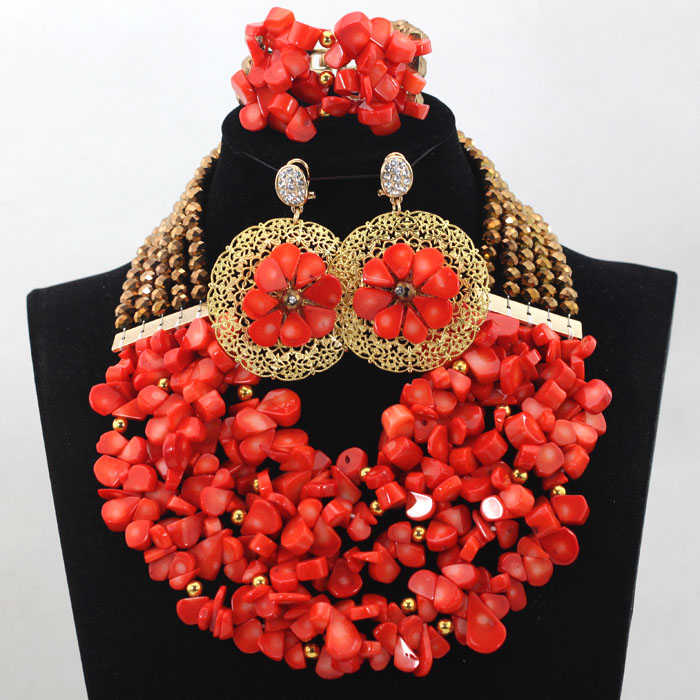 New Arrival! Fashion Green Nigerian Coral Beads Jewelry Set Indian ...