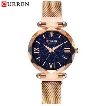 Luxury Rose Gold Women Watches Minimalism Starry sky Magnet Buckle Fashion Casual Female Wristwatch Waterproof Roman Numeral дамски часовници розово злато