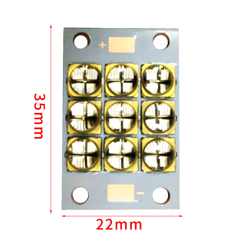 <font><b>UV</b></font> LED curing module 90 watts high power LED <font><b>UV</b></font> violet 6565 <font><b>365</b></font> to 370nm 380 to 385nm 395 to 400nm 400 to 405nm 22*35mm board image