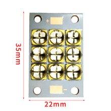 6565 UV LED ריפוי מודול 90 ואט גבוהה כוח סגול 365 370nm 380 385nm 395 400nm 400 405nm 22*35mm לוח