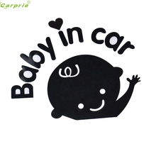 Auto Baby In Car Waving Baby Design car Body Sticker Waterproof vehicle car styling car-covers personality auto accessories Au26