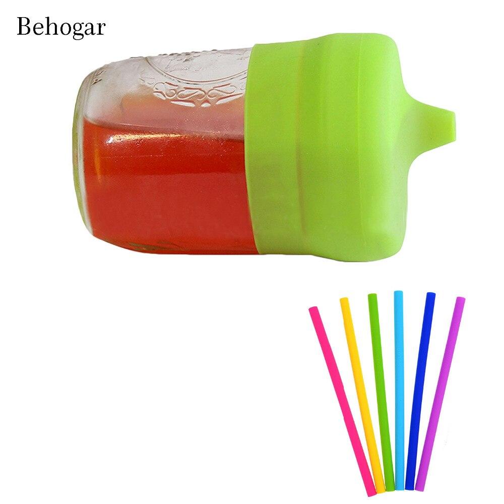 Behogar многоразовые универсальный силиконовый Сиппи крышки с мягким носиком стрейч топы для детей для маленьких детей Младенцы разные цвета