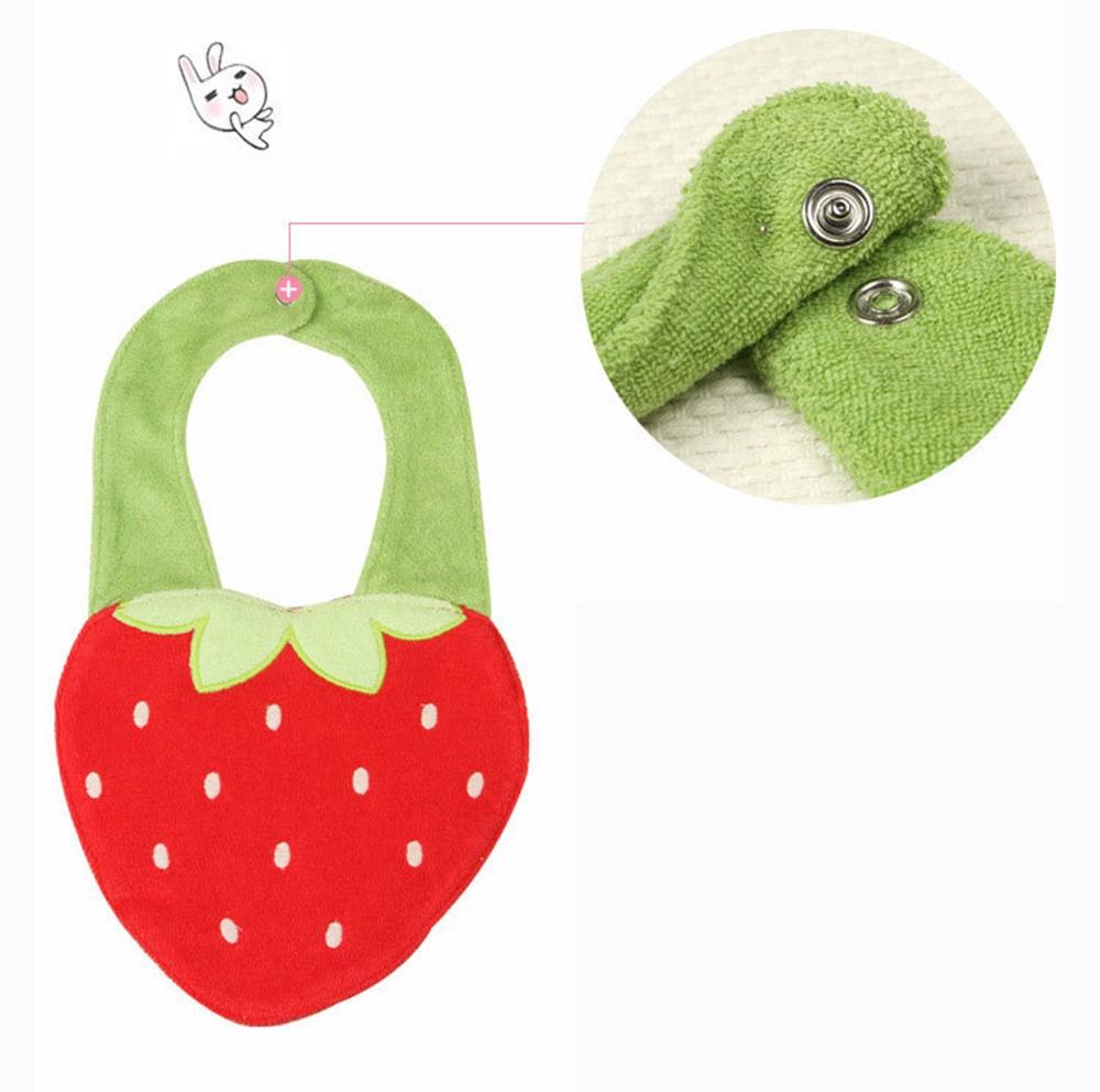 Strawberry Form Soft Baby Bibs