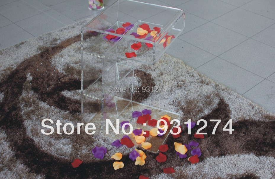 2016 New Clear acrylic nightstand night stands with storage rack Modern bedside cabinet night table Fashion bedroom furniture