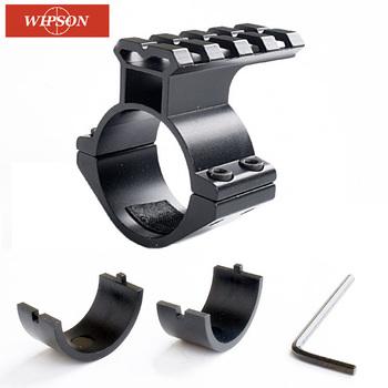 Wipson 1 szt karabin zakres Góra baryłka 1 25 4 mm 30mm pierścień adapter w 20mm Scope Weaver piatinny Rail Mount z Insert Caza tanie i dobre opinie 10 25cm Picatinny WP12 Czarny Chiny 20mm Rail