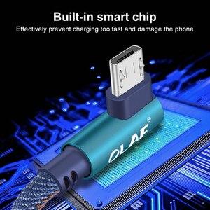 Image 5 - Câble Micro USB OLAF 90 degrés 2.4A câble de données de Charge rapide câble Microusb pour Samsung Xiaomi câble de téléphone portable Android