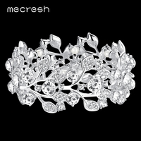 Pure AAA Crystal White K Bracelets Bangles Bridal Wedding Accessories Women Party Jewelry SL108