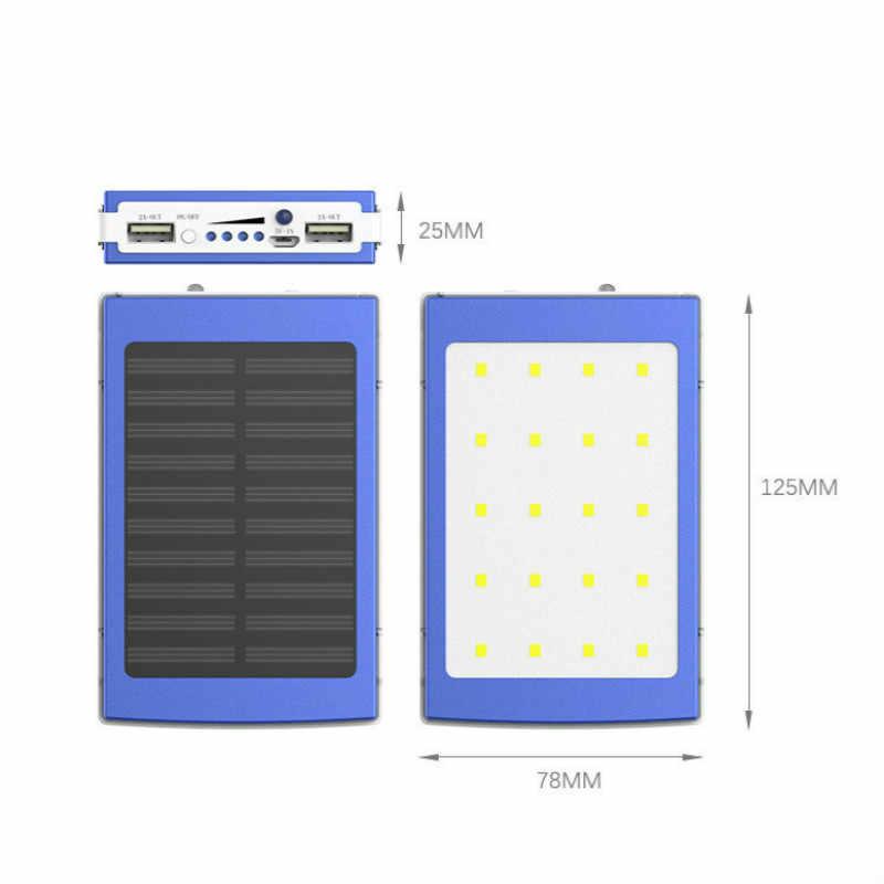الشمسية 5x18650 حالة تجدد Powerbank LED المحمولة بنك الطاقة مزدوجة usb الخارجية (BatteryNot وشملت) شاحن DIY مربع بطاريات كيت