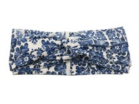 T175310 2017Newest Chinese Style Blue White Porcelain Turban Band Flower Headbands Good Stretch Solid Hair Fascinators