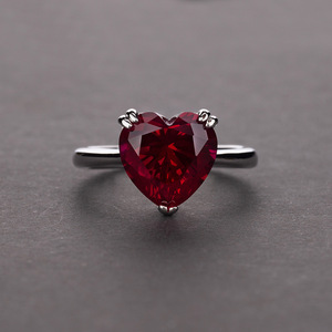 Image 3 - Rainbamabom bague en argent Sterling 925, bracelet en diamant, bijoux en forme de cœur damour créé, pierres précieuses, mariage, vente en gros