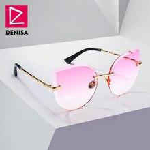 DENISA Cool Women Sunglasses Cat Eye Fashion Driver Glasses Girls Pink