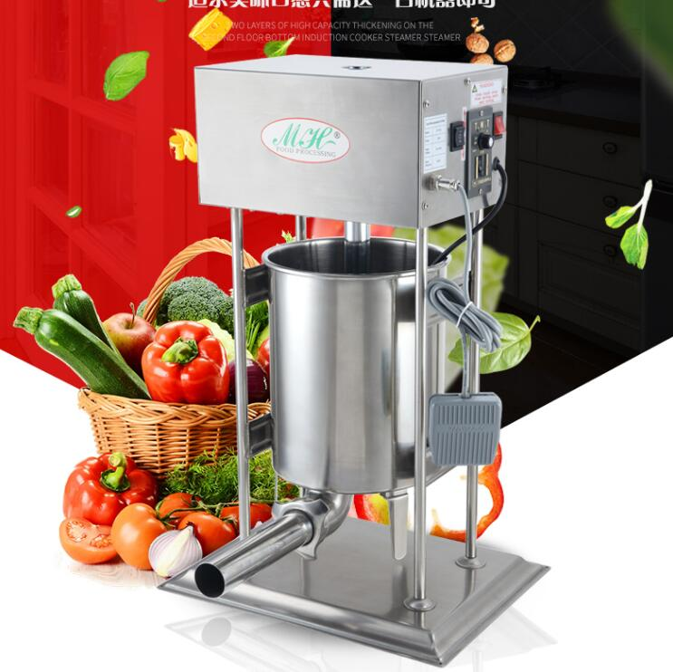 18 25L automatic Sausage Meat Stuffer Stainless Steel Vertical Sausage Filling Machine electric 110v 220v Meat Sausage Stuffer