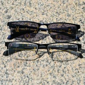 Image 2 - WEARKAPER متعدد البؤر التقدمية اللونية نظارات للقراءة الرجال التجارية الديوبتر طويل النظر نظارات gafas دي ليكتورا
