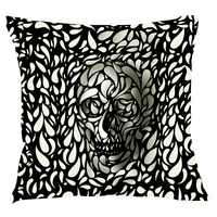 EHOMEBUY New 3D Single-sided Printing Pillowcase Decorative Cushions For Sofa Square Pillows Cover skull  Pillowcase Cover