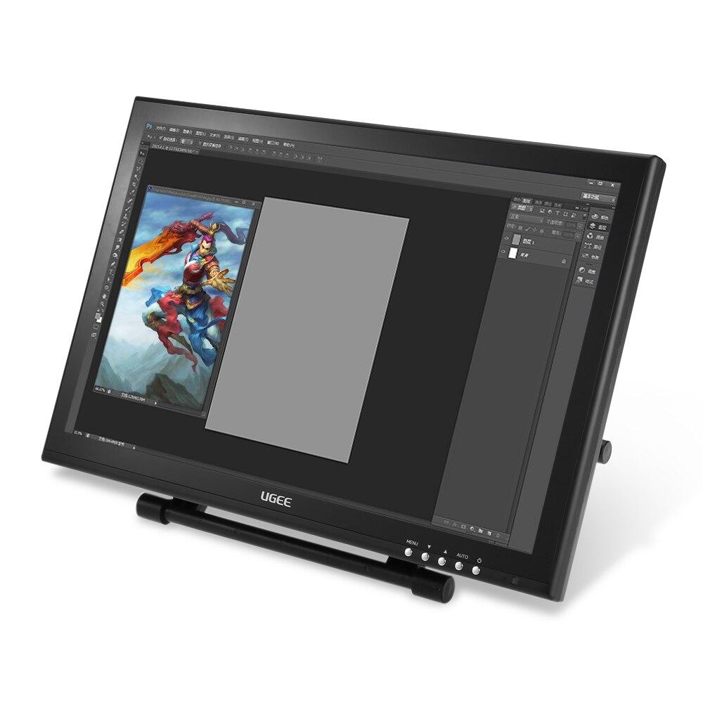 UGEE UG-1910B 19 ນິ້ວ P50S ສິນລະປະປາກກາ Tablet Drawing Smart Painting 5080LPI ຄວາມລະອຽດຈໍແອນຊີດີ + VGA + ປາກກາ + ປາກກາ Holder NIB