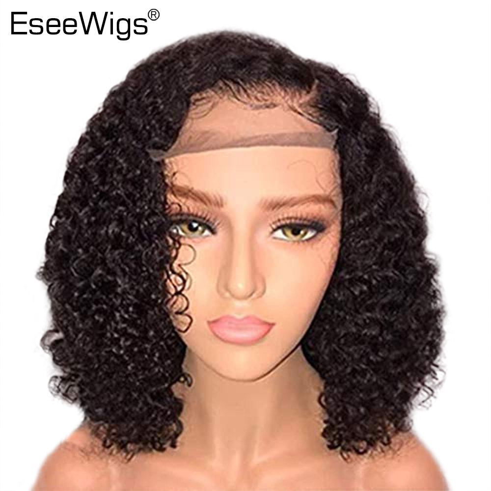 Hair Extensions & Wigs Human Hair Lace Wigs 100% Quality Short Full Lace Human Hair Wigs With Baby Hair Glueless Remy Hair Curly Full Lace Wigs For Black Women Brazialian Nyuwa Hair