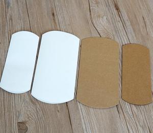 Image 4 - 30 pces travesseiro caixa de papel kraft, papelão artesanal caixa de sabão, branco ofício caixa de presente de papel, festa embalagem caixa de jóias