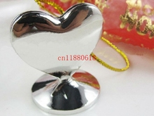 100pcslot free shipping wedding favors silver heart place card holder photo stand bachelor party