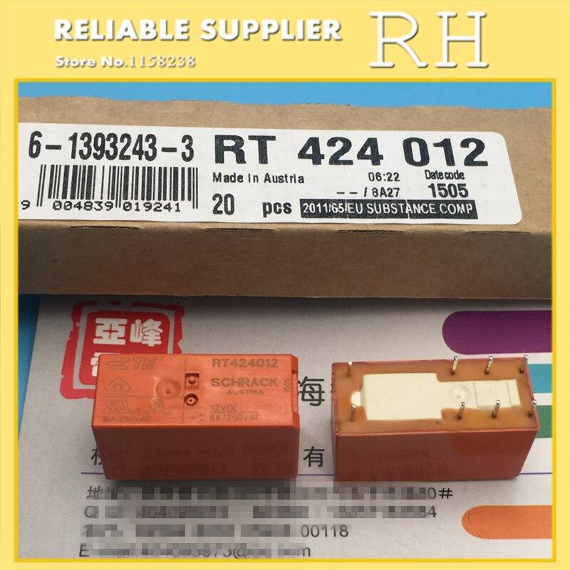 Image 2 - 10 pçs/lote relés de potência rt424005 rt424012 rt424024 5 v 12  24 v 8a 8pin dois conjuntos de conversõespower relay5v 12v relaypower  relay 5v