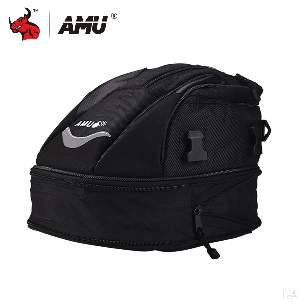 купить AMU Motorcycle Tail Bags Back Seat Bags Moto Travel Bag Motorbike Scooter Sport Luggage Rear Seat Rider Bag Pack по цене 2583.91 рублей