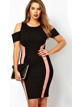 Dear-Lover Plus Size XXL Sexy Off Shoulder Lady Black Exclusive Bodycon Dress With Drop Shoulders LC21375 vestidos Party Dresses
