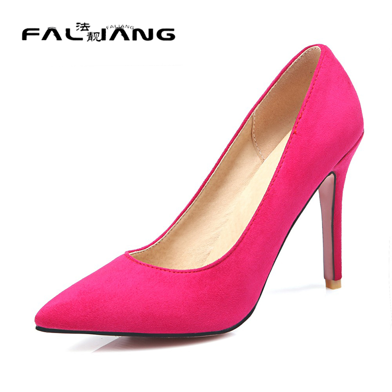 ФОТО Big Size 11 12 13 14 15 16 Thin Heels Basic Pointed Toe Office & Career Women's Shoes Extreme High Heels Pumps Woman For Women