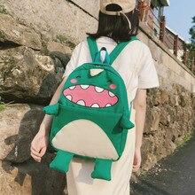 Cute Cartoon Dinosaur Women Backpacks Large Capacity