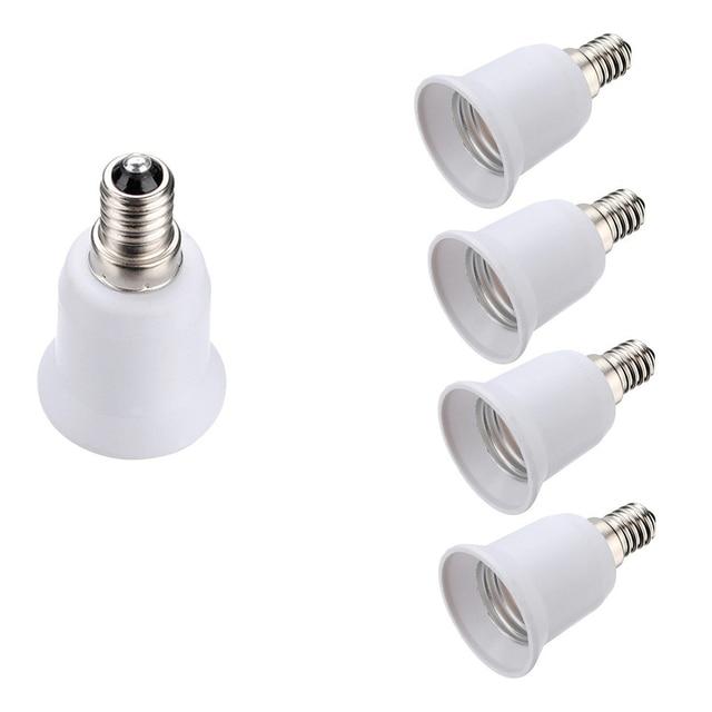 4 piezas hembra adaptador E14 a E27 lámpara de bombilla Adaptador convertidor