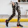 Novo Design Calças de Camuflagem Calças Skinny Casuais Masculino dos homens de Alta Qualidade Magro Calças Cintura Elástica