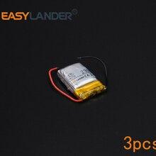 3pcs/Lot 3.7V 230mAh Rechargeable li Polymer Li-ion Battery For bluetooth headset mp3 MP4