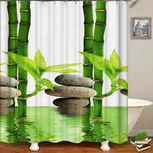 3D Number Print Waterproof Shower Curtain Polyester Fabric Bath Curtain Home Bathroom Curtains with 12 Hooks Shower Curtains