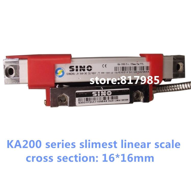 Sino slimest KA200 linear glass scale 16*16mm cross section 1micron linear encoder