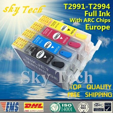29XL Completo cartucce di inchiostro Riutilizzabile Per T2991-T2994 vestito per XP-235 XP-245 XP-247 XP-332 XP-335 XP-342 ecc, con Chip ARC