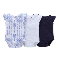 Top Quality One Piece Cotton Baby Romper Girls Fashion Sleeveless Summer Clothing Newborn Baby Girls Clothes